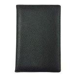 コンサイス リアルレザー パスポートカバー ブラック
