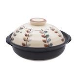 萬古焼 リーフ 8号軽量土鍋 M0069│鍋 土鍋・ご飯鍋