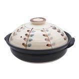 萬古焼 リーフ 9号軽量土鍋 M0070│鍋 土鍋・ご飯鍋
