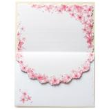 包む レターセット 桜 ピンク 花さくら H-00777│レターセット・便箋 レターセット