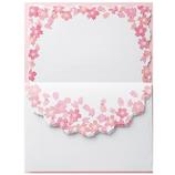 包む レターセット 桜 ピンク さくら H-00778│レターセット・便箋 レターセット