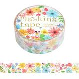 包む マスキングテープ ガーベラ 15mm TM071│シール マスキングテープ