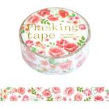包む マスキングテープ ローズ 15mm TM072│シール マスキングテープ