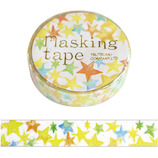 包む マスキングテープ グリッタースター 10mm TM078│シール マスキングテープ