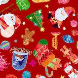 【クリスマス】 包む ラッピングペーパー クリスマストイズ ミニ CH014