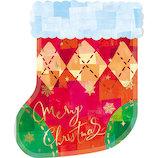 【クリスマス】 包む ジップ メリーソックス CV018 5枚入