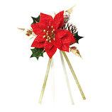 【クリスマス】 包む ポインセチアオーナメントR CO001