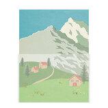 包む レターセット 景色 トレーシングペーパー H-TL063 アルプスと羊│レターセット・便箋 レターセット