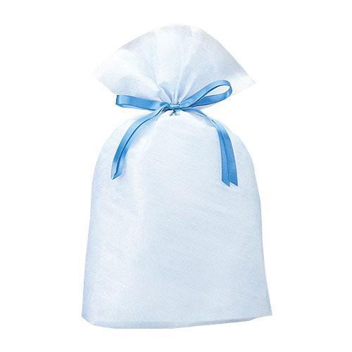 巾着バッグ シンシア ブルー L