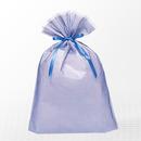 巾着バッグ マチ付 ブルー LL