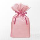 巾着バッグ マチ付 ピンク L