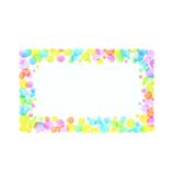 包む メッセージカード 7−051−0 バブルドット│カード・ポストカード ミニカード