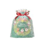 【クリスマス】包む サンタリース巾着 C−2468 グリーン