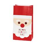 【クリスマス】 包む 角底BAG フルサンタL C−2490 5枚入