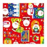 【クリスマス】 包む RP カラフルXMAS C−3718
