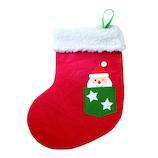 【クリスマス】 包む くつ下バッグ サンタポケット C−2548