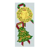 【クリスマス】 包む シール クリスマスリースツリー C-6154