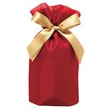 包む ギフトバッグ オーガンジー巾着バッグ M T-2804-M ワインレッド│ラッピング用品 ラッピング袋