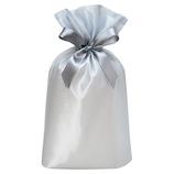 包む 巾着袋 GB オーガンジー L T−2846−L シルバー│ラッピング用品 ラッピング袋