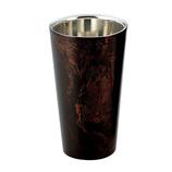 漆磨(シーマ) 2重構造 ストレートカップ 黒