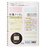 付箋ノートが貼りやすい ルーズリーフ セミB5 A罫 A−FNL