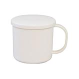 【お買い得】クリーンコート フタ付マグカップ ホワイト