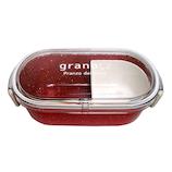 grano レクタングルランチ S 600mL レッド│お弁当箱 弁当箱
