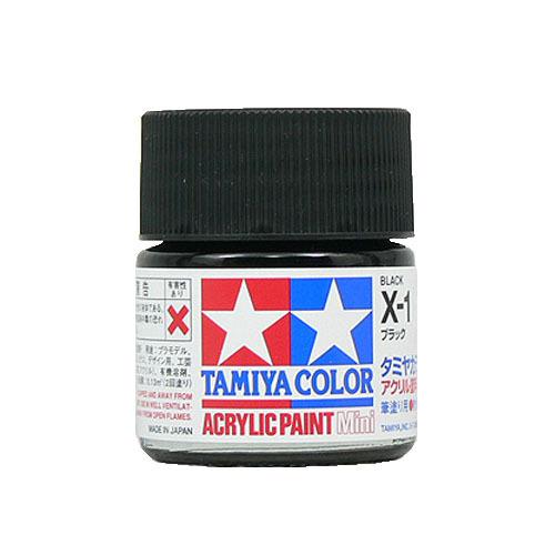 【クリックでお店のこの商品のページへ】タミヤ アクリルミニ X-1 ブラック