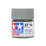 タミヤ アクリルミニ XF-16 フラットアルミ│油性塗料 工作用油性塗料