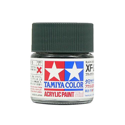 【クリックでお店のこの商品のページへ】タミヤ アクリルミニ XF-27 ブラックグリーン