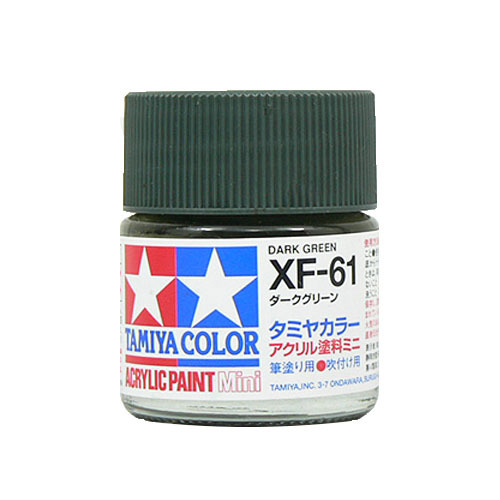 【クリックでお店のこの商品のページへ】タミヤ アクリルミニ XF-61 ダークグリーン