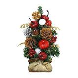 【クリスマス】Santa's Factory LEDセットツリー ナチュラル S037113 レッド 15cm