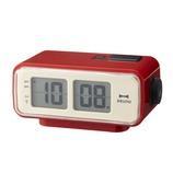 BRUNO LCDレトロアラームクロックS BCR003 レッド