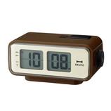BRUNO LCDレトロアラームクロックS  BCR003 ブラウン