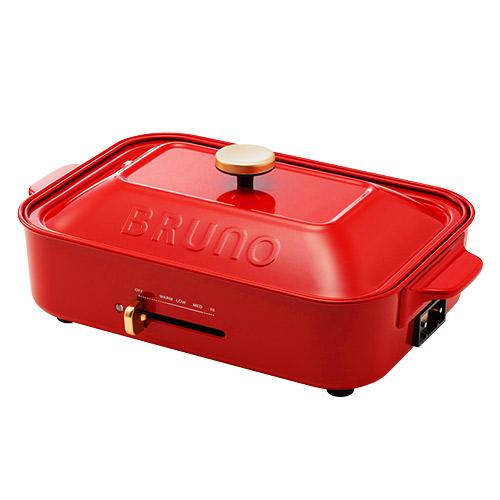 ブルーノ(BRUNO) コンパクトホットプレート レッド