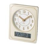 BRUNO 電波カレンダー温湿クロック BCR015 アイボリー