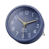 ブルーノ(BRUNO) ラウンドリトルクロック BCA013 ネイビー│時計 目覚まし時計