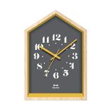 ブルーノ(BRUNO) ウッドハウスクロック BCW042-BK ブラック│時計 置き時計