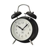 ブルーノ(BRUNO) モノクロツインベルクロック BCA024-BK ブラック│時計 置き時計