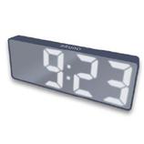 ブルーノ(BRUNO) LEDミラークロック BCA025-NV ネイビー│時計 置き時計