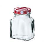 二ノ宮 チェックボトル 平角200 DG-878│保存容器 ガラス保存容器