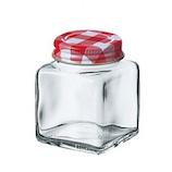 二ノ宮 チェックボトル 50角ビン DG-879│保存容器 ガラス保存容器