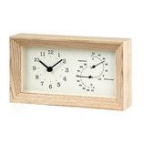 タカタレムノス FRAME(フレーム) 温湿度計付 LC13−14NT ナチュラル│時計 置き時計