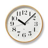レムノス リキクロック プライウッド WR08−27│時計 壁掛け時計