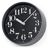 タカタレムノス リキ スチールクロック WR08‐25 ブラック│時計 電波時計
