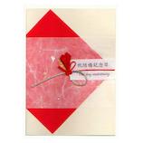 モンクハウス 結婚記念日カード CC-041 赤