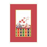 モンクハウス 雛祭カード HS‐064│カード・ポストカード メッセージカード