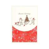 モンクハウス 和風クリスマスカード XJ-633 鳥獣戯画│カード・ポストカード クリスマスカード