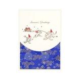 モンクハウス 和風クリスマスカード XJ-634 鳥獣戯画│カード・ポストカード クリスマスカード