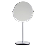 ウッディハウス アルミ枠7倍拡大鏡付きスタンドミラー W−3300│メイク道具・化粧雑貨 手鏡・卓上ミラー